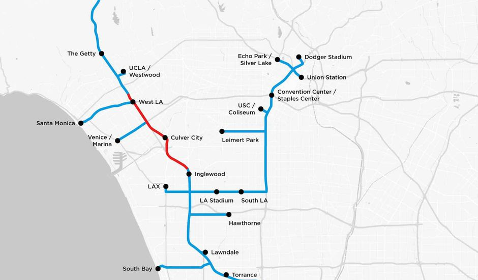 Boring Company carte tunnels Los Angeles