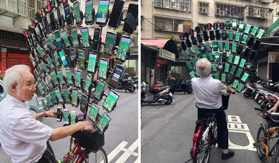 Chen San-yuan et ses 64 téléphones pour jouer à Pokémon Go