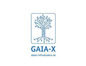 Logo de Gaia-X. Gaia-x servira a faciliter la libre circulation des données.