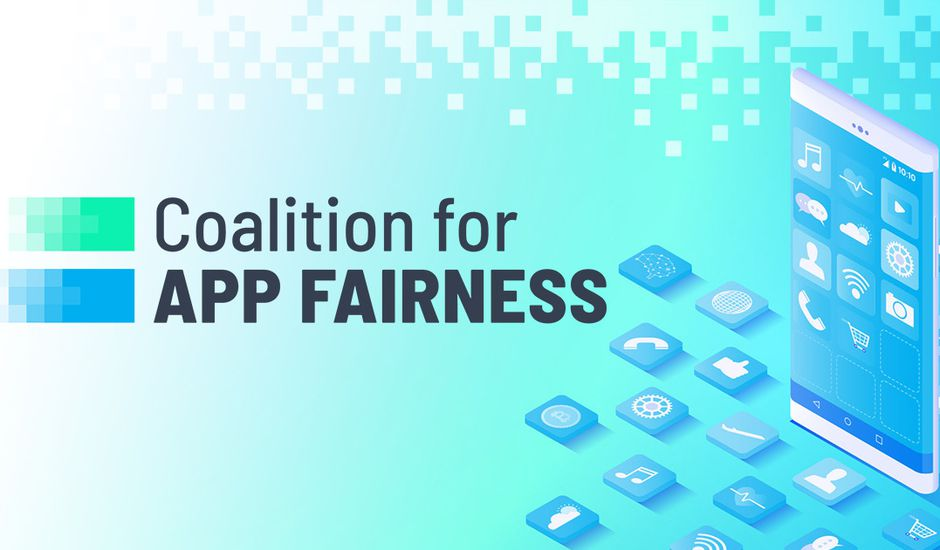 Logo de Coalition for app fairness