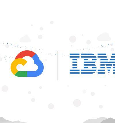 Google cloud s'associe à IBM.
