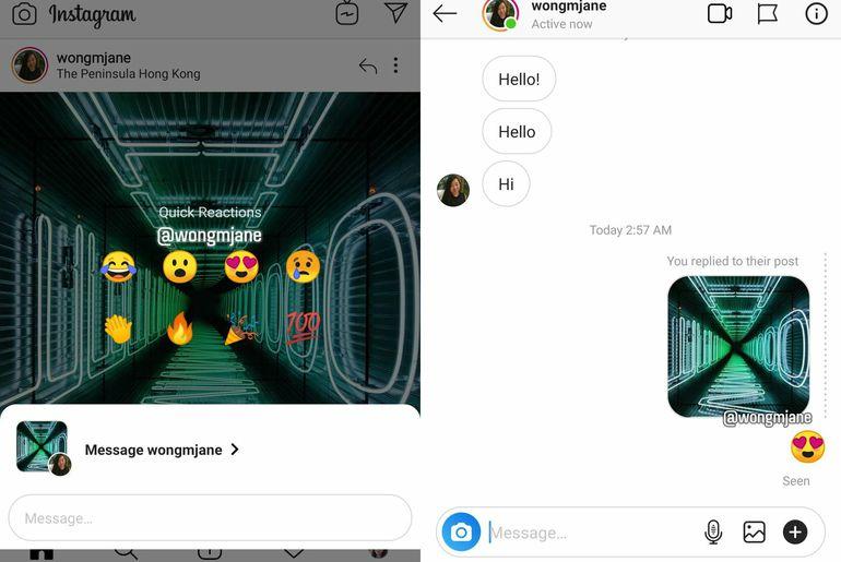 Post Reactions Instagram