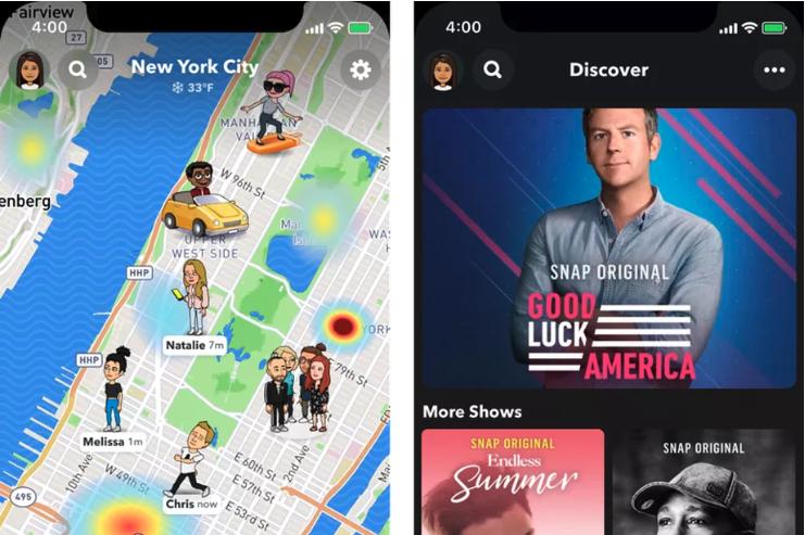 Snapchat teste de nouvelles mises à jour