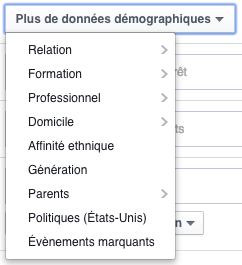 facebook ads audience sauvegardée