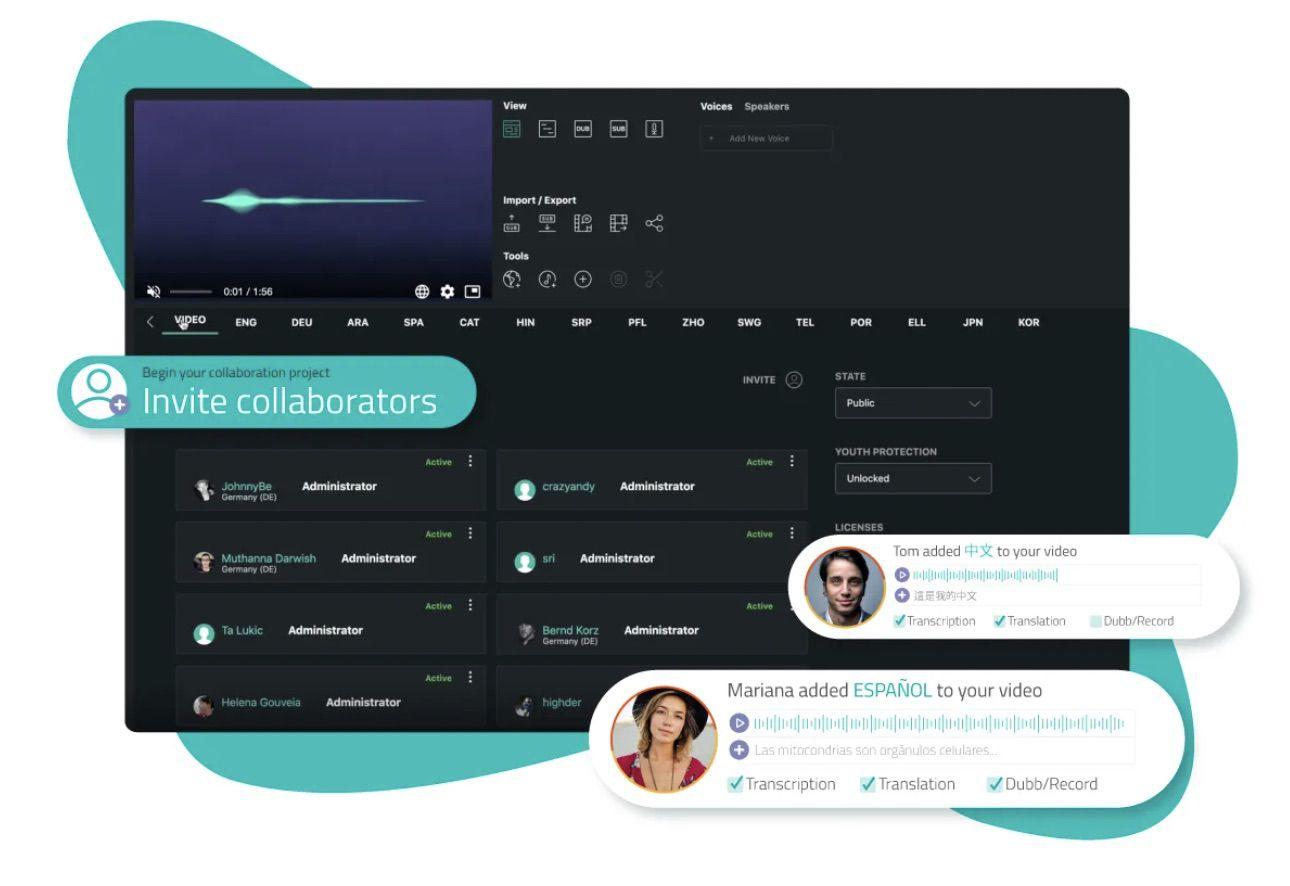 collaboration en temps réel sous Alugha