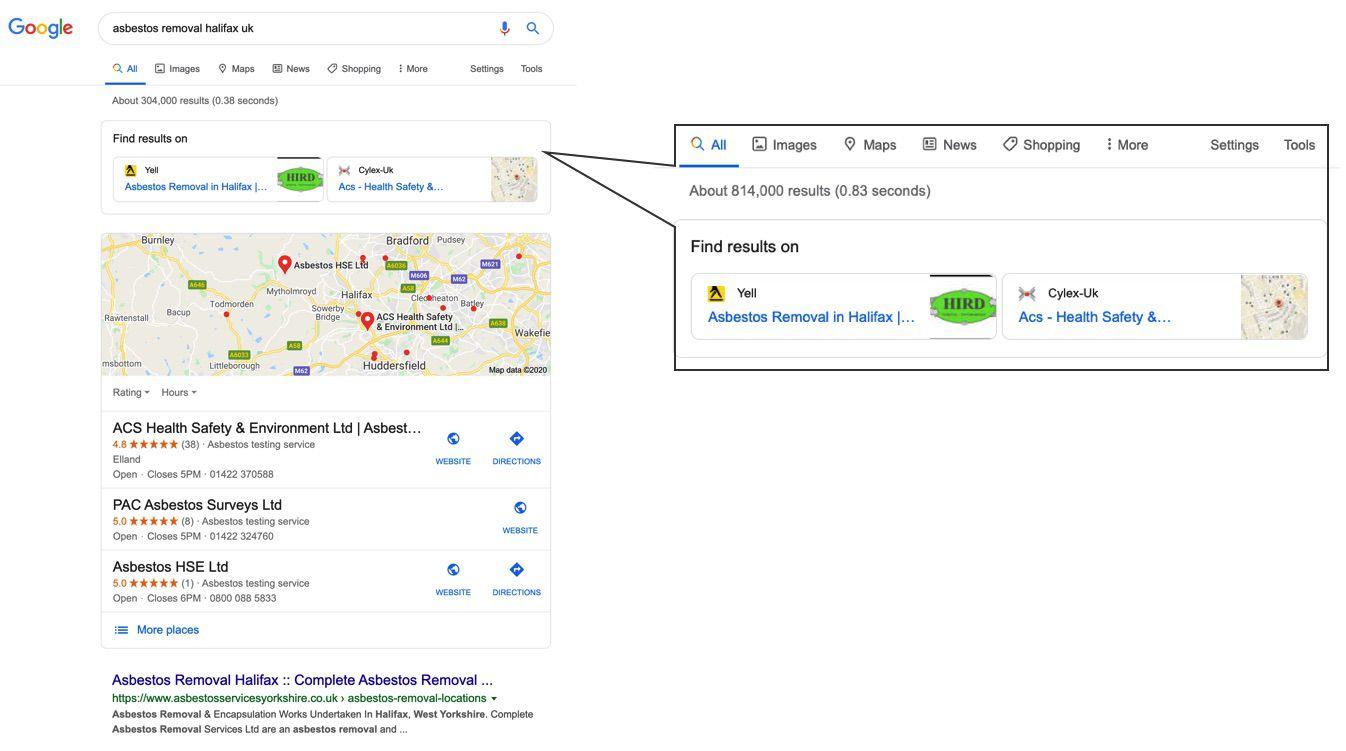 Google met à jour ses SERP.