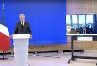 Bruno Le Maire et Thierry Breton lors d'une conférence de presse le 15 février 2021