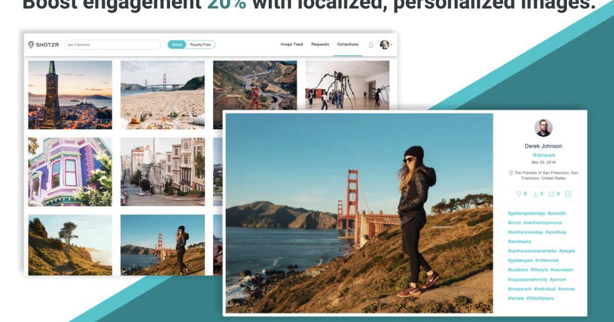 Shotzr : une bibliothèque d'images gratuite qui permet d'obtenir un engagement de 20% supplémentaire !