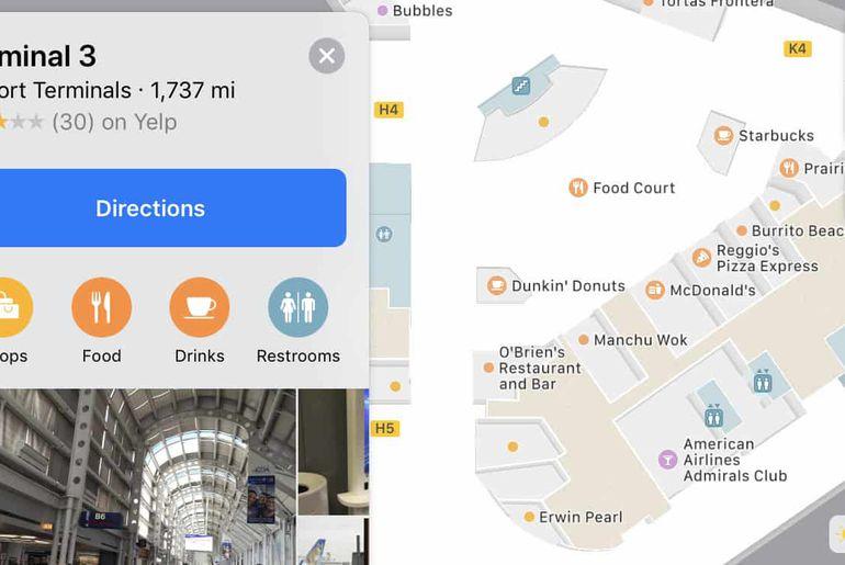 iOS 11 plans aéroport