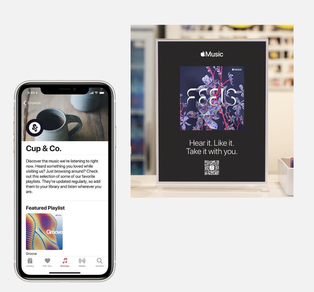 Présentation des playlists de marque sur Apple Music for Business