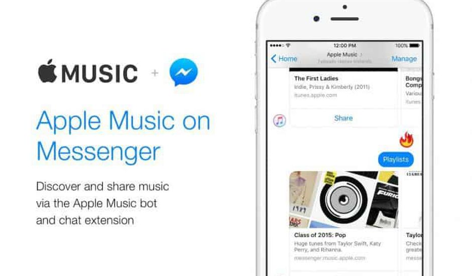 Apple Music dans Messenger