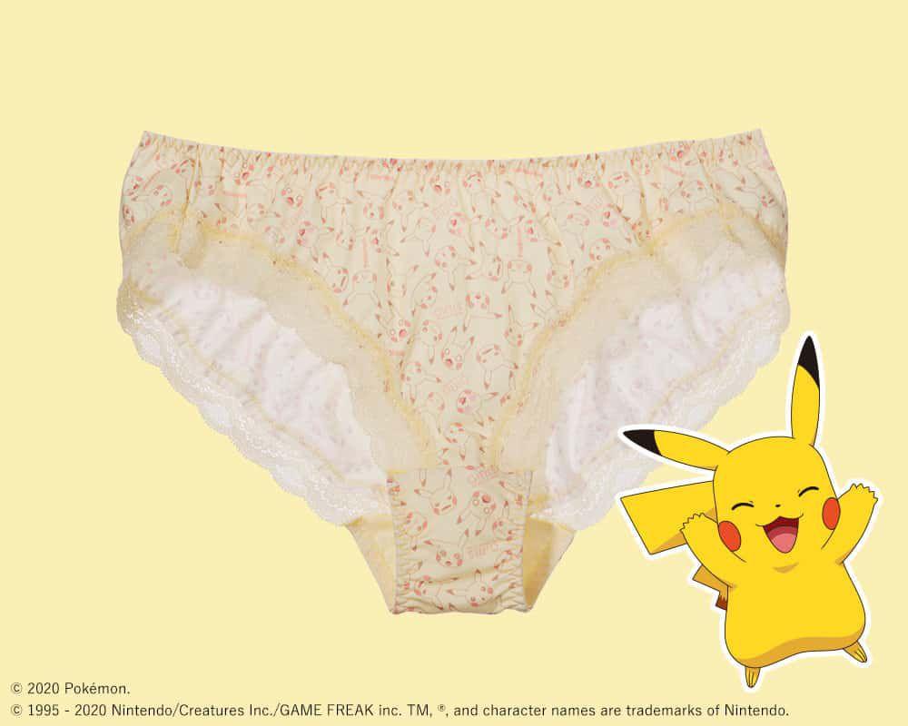 culotte Pikachu pour la collection Pokémon Girls de Peach John