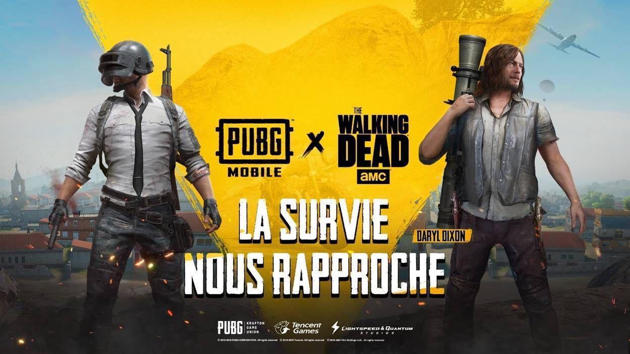 the walking dead sur pubg mobile avec un événement ponctuel