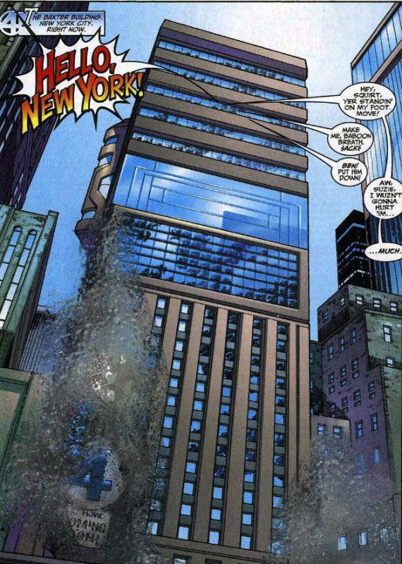 baxter building quatre fantastiques