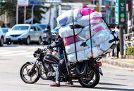 Aperçu d'un motard en Corée du Sud.