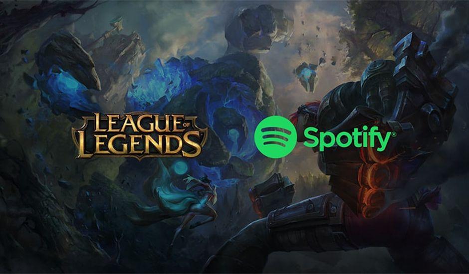Illustration du partenariat entre Spotify et League of Legends.