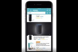Aperçu des publicités vidéo dans les résultats de recherche Amazon