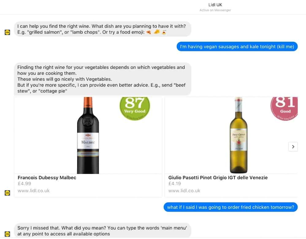 Lidl chatbot Margot