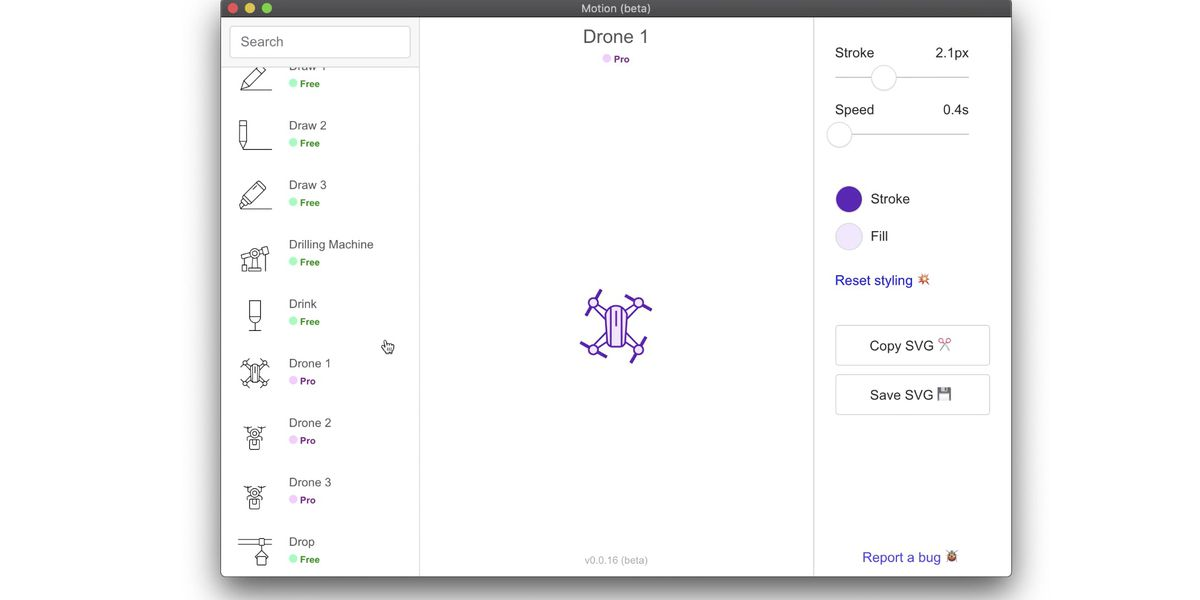 Motion : éditez vos icônes SVG et animez les !