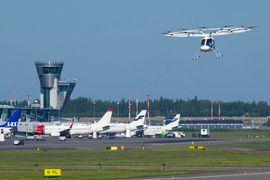 Volocopter teste ses taxis volants sur un aéroport.