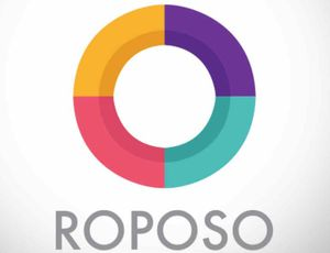 Le logo de l'application indienne Roposo.