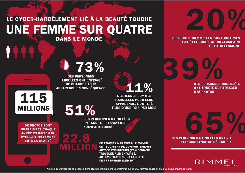 infographie sur le cyberharcèlement