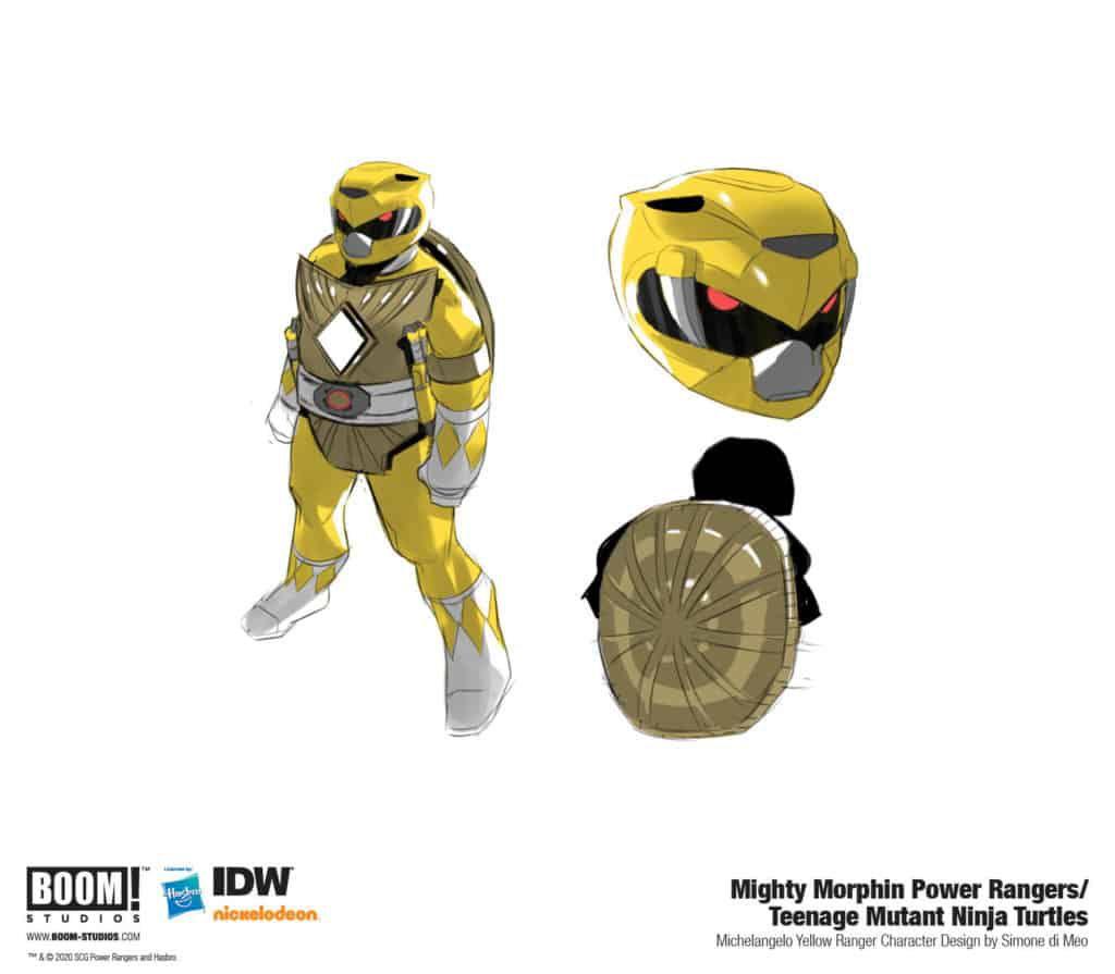 tortues ninja michelangelo jaune ranger comics
