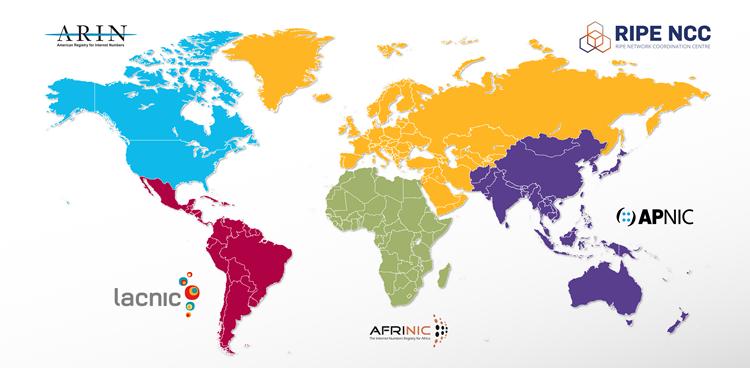 Carte du monde représentant les RIR