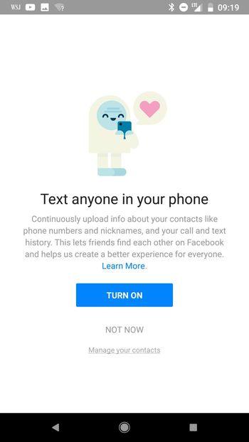 Facebook s'explique sur l'enregistrement des appels et messages des utilisateurs Android