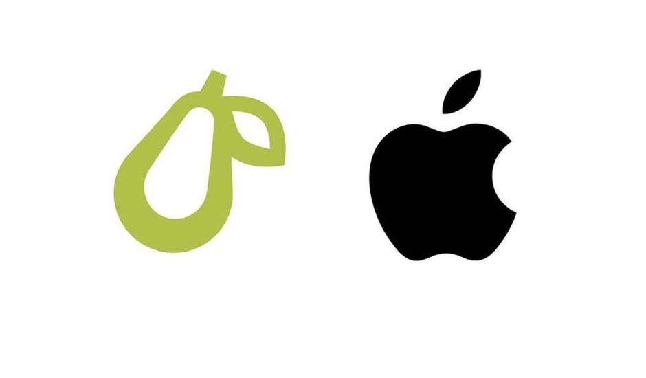Apple s'attaque au logo d'une entreprise illustré par une poire