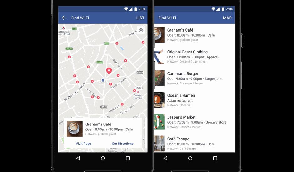 Find Wi-Fi de Facebook