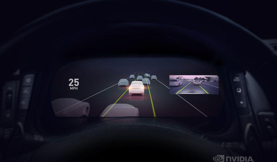 Nvidia présente Nvidia Drive AutoPilot, sa solution de conduite semi-autonome lors du CES 2019