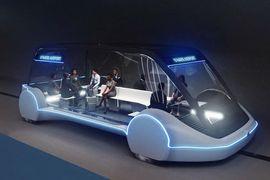 Des voitures autonomes dans le tunnel de The Boring Company à Las Vegas