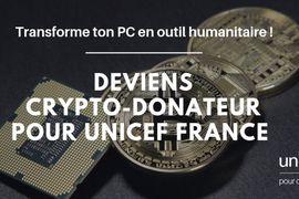 Il est désormais possible de faire des dons à l'UNICEF France en cryptomonnaies