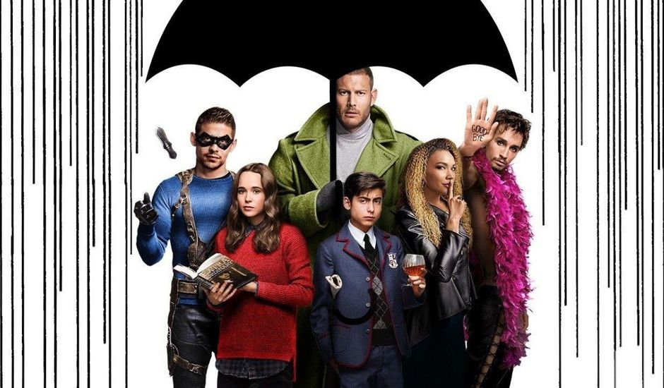 Affiche de promotion pour The Umbrella Academy