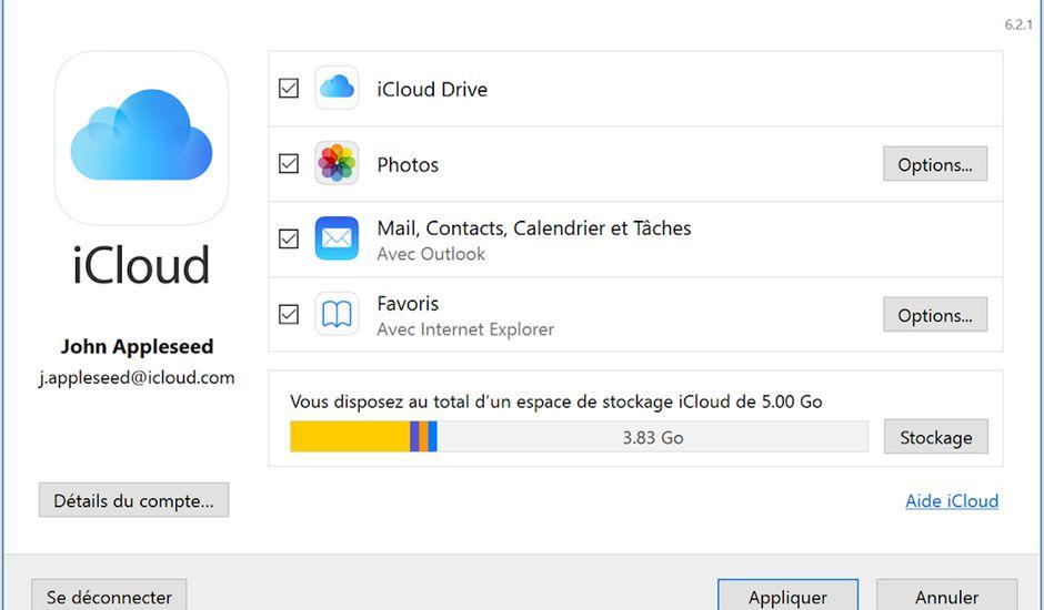 iCloud sous Windows 10