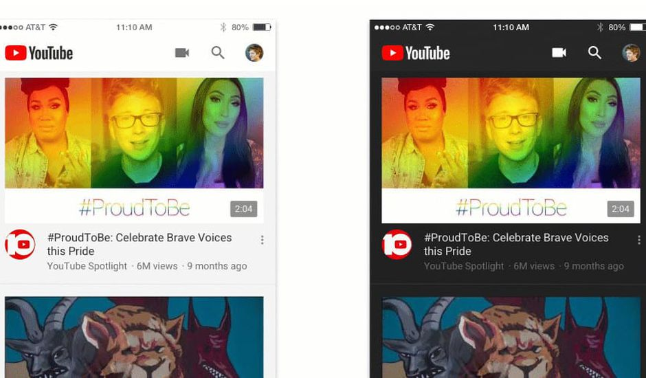 Youtube se dote d'un mode sombre sur son application mobile