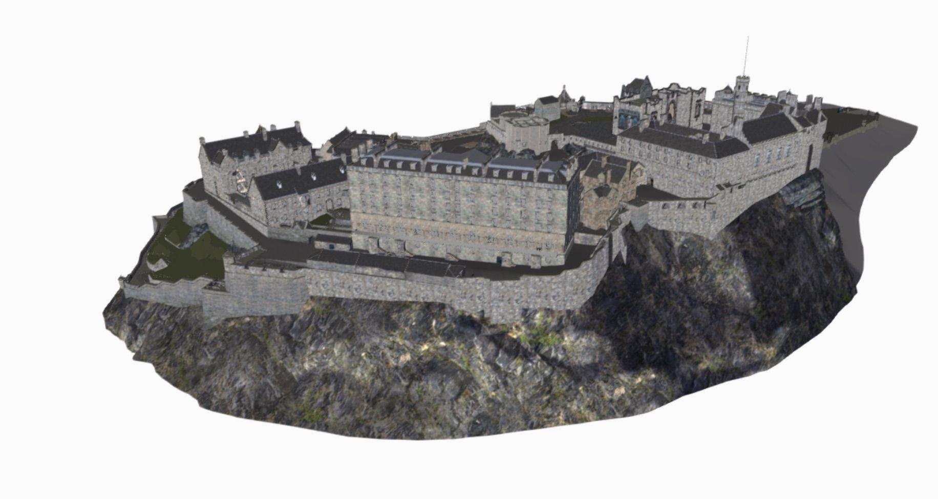 Une reproduction du château d'Edimbourg