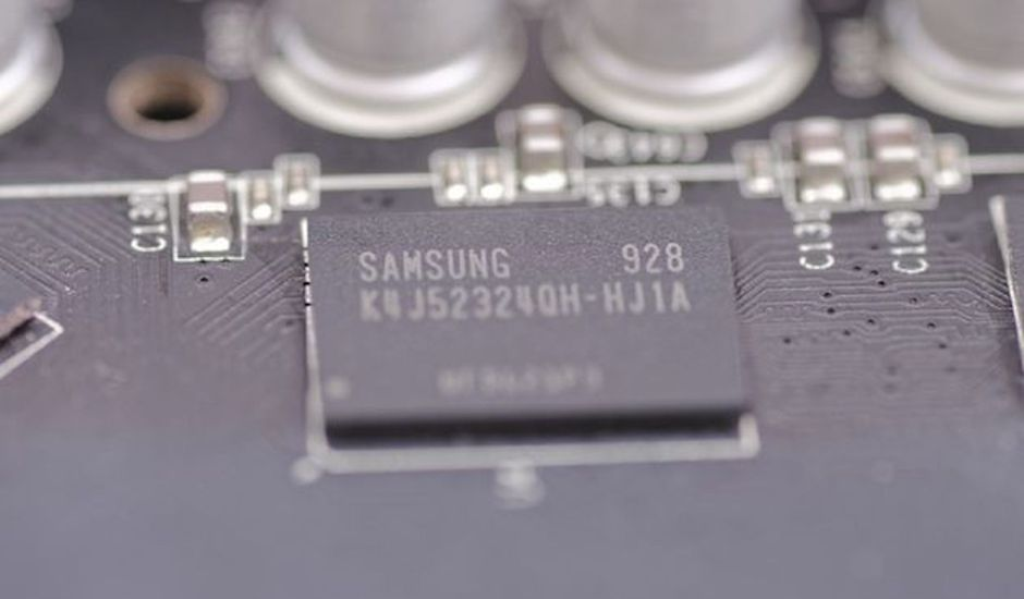 Aperçu d'une puce Samsung.
