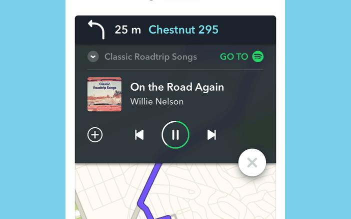 Spotify Waze iOS