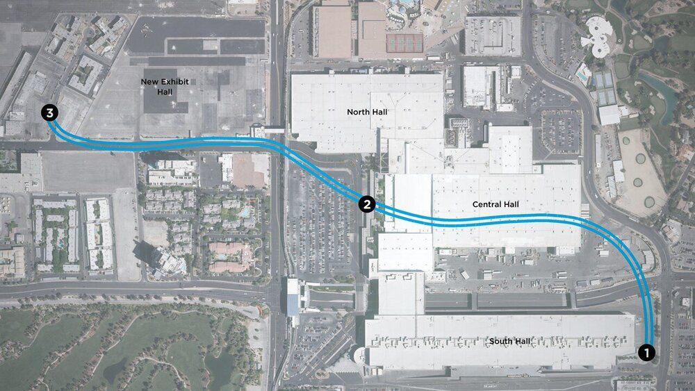 Un plan du tunnel qui vient d'être construit au Las Vegas Convention Center.
