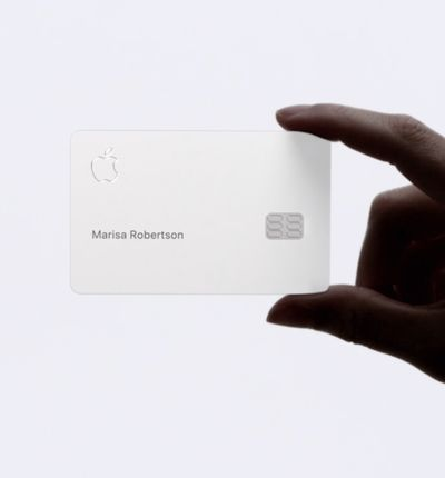 aperçu de la carte physique Apple Card