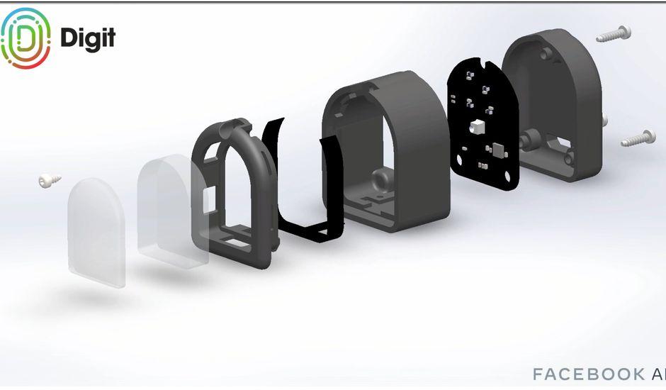 Découpe de Digit avec les différents éléments qui composent ce doigt