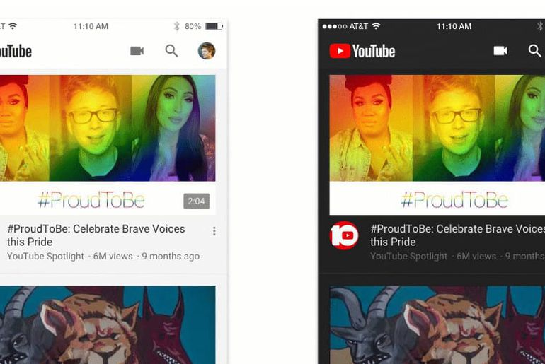 Youtube se dote d'un mode sombre sur son application mobile