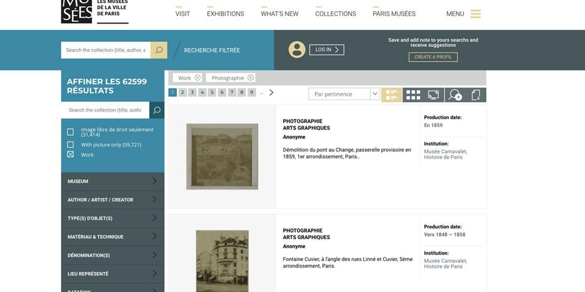 Les musées de Paris mettent en ligne 150 000 oeuvres historiques et libres de droits