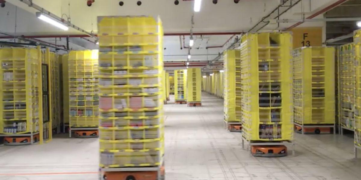 4 000 robots équipent le dernier centre de distribution d'Amazon en France