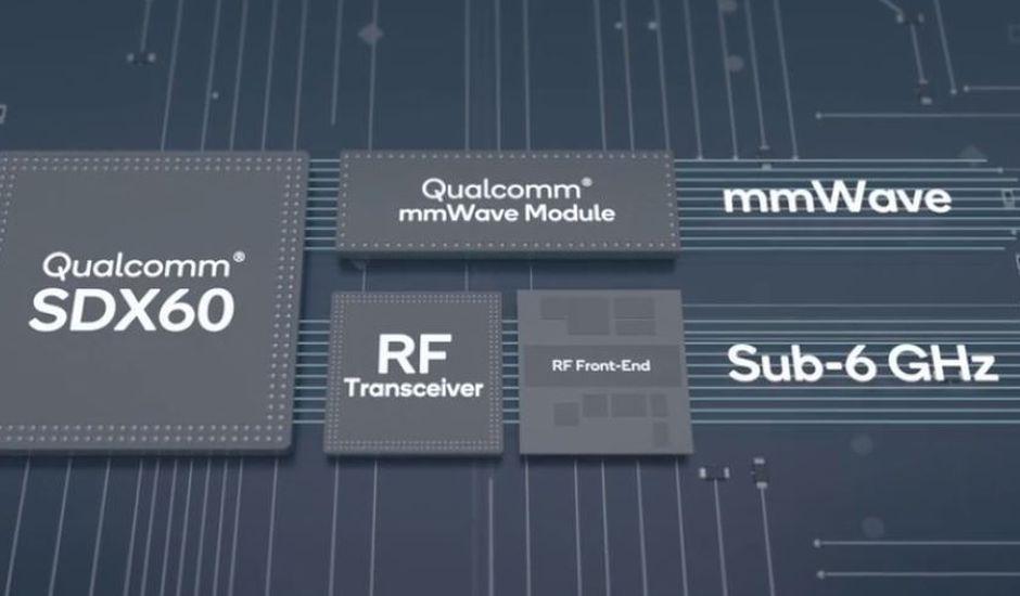 Représentation modem 5G Qualcomm