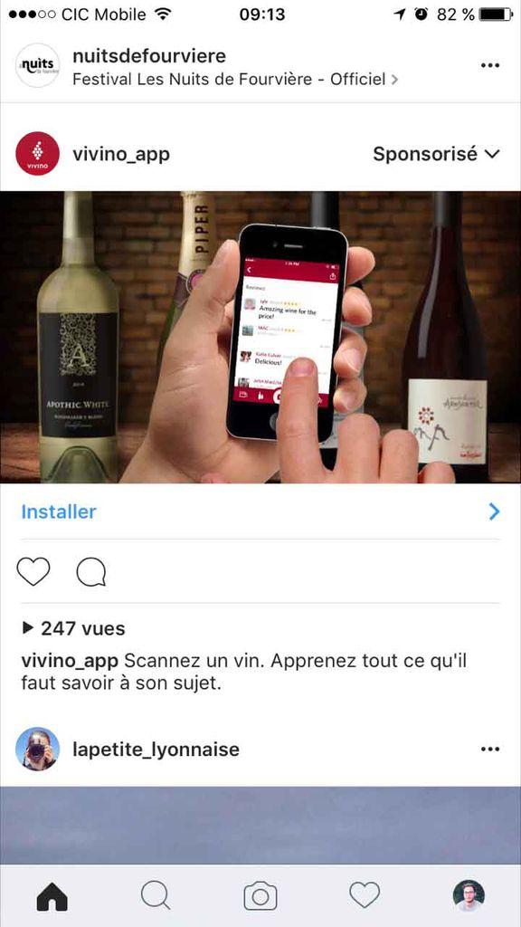faire de la publicité sur instagram pour augmenter le téléchargement de l'app