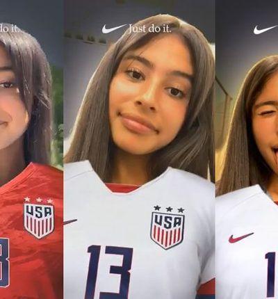 Nike sort un filtre spécial à l'occasion de la coupe du monde féminine