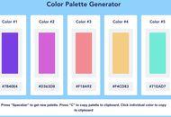 palette de couleurs générée sur Color Palette Generator